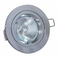 Robin 50W 240V GU10 Fire Rated Downlight, 91mm, Chrome