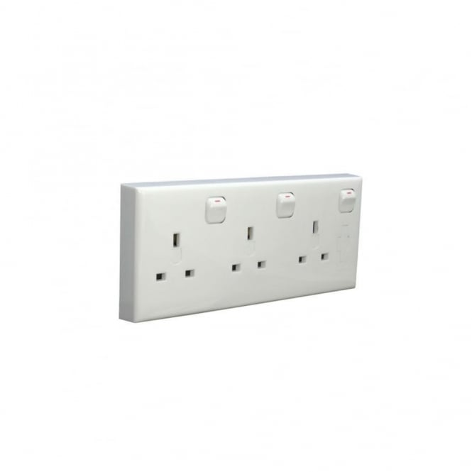 LED Robus Robus Single/Double to Three Gang Socket Converter