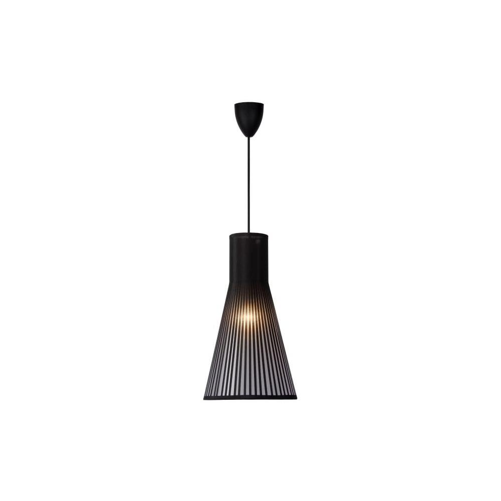 lucide 06409 01 30 lima pendant e14 d21 h38cm black. Black Bedroom Furniture Sets. Home Design Ideas