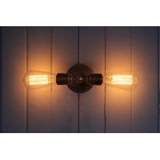 Lome Vintage Double wall light Satin Brass