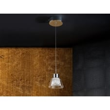 Lucia Crystal Glass Single Ceiling Pendant