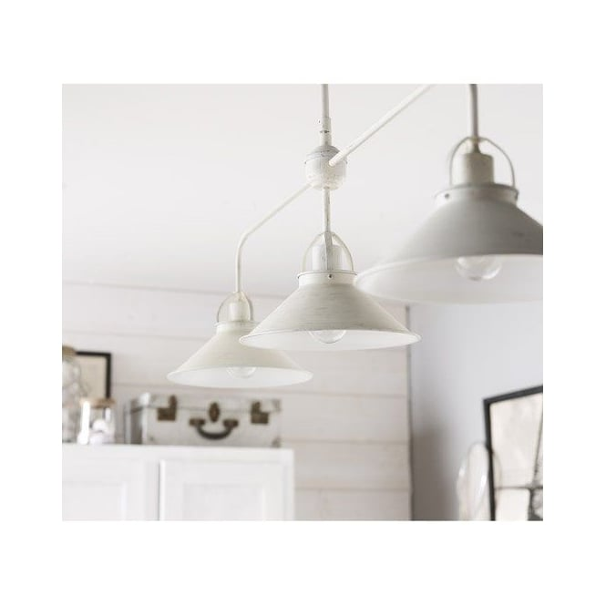 Lucide BERKLEY Antique White Island 3 Light