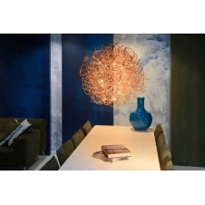 GALILEO Ceiling Pendant With Red Copper Finish