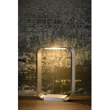 LED HOLE Table lamp Touch 6W 6/14/20cm Alu