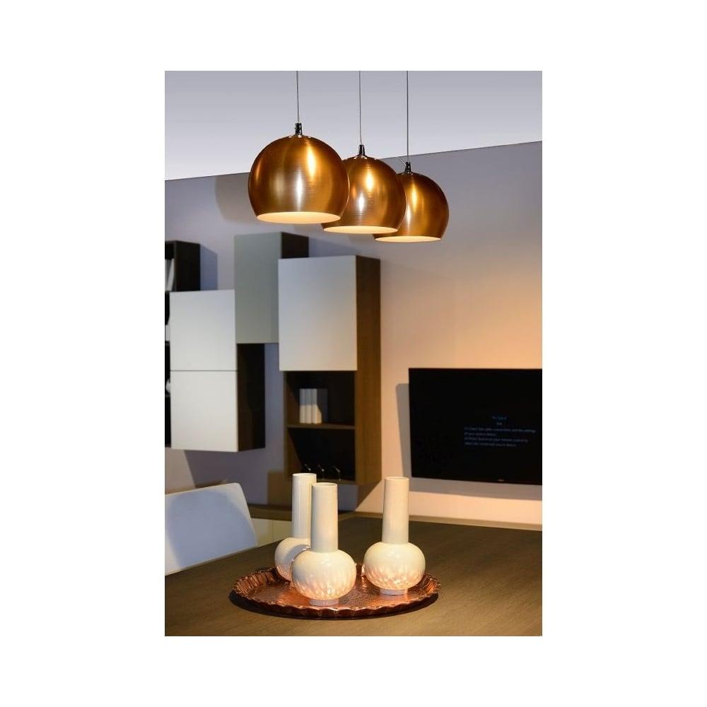 Lucide 17450 20 17 Modern Copper Ceiling Pendant Light Ideas4lighting Sku18414i4l