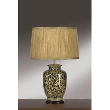 Morris Gold/Black Small Table Lamp