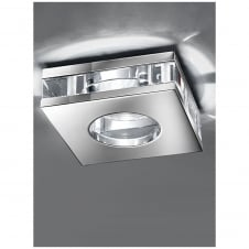 LV 50W Chrome With Crystal Ceiling Downlight IP65