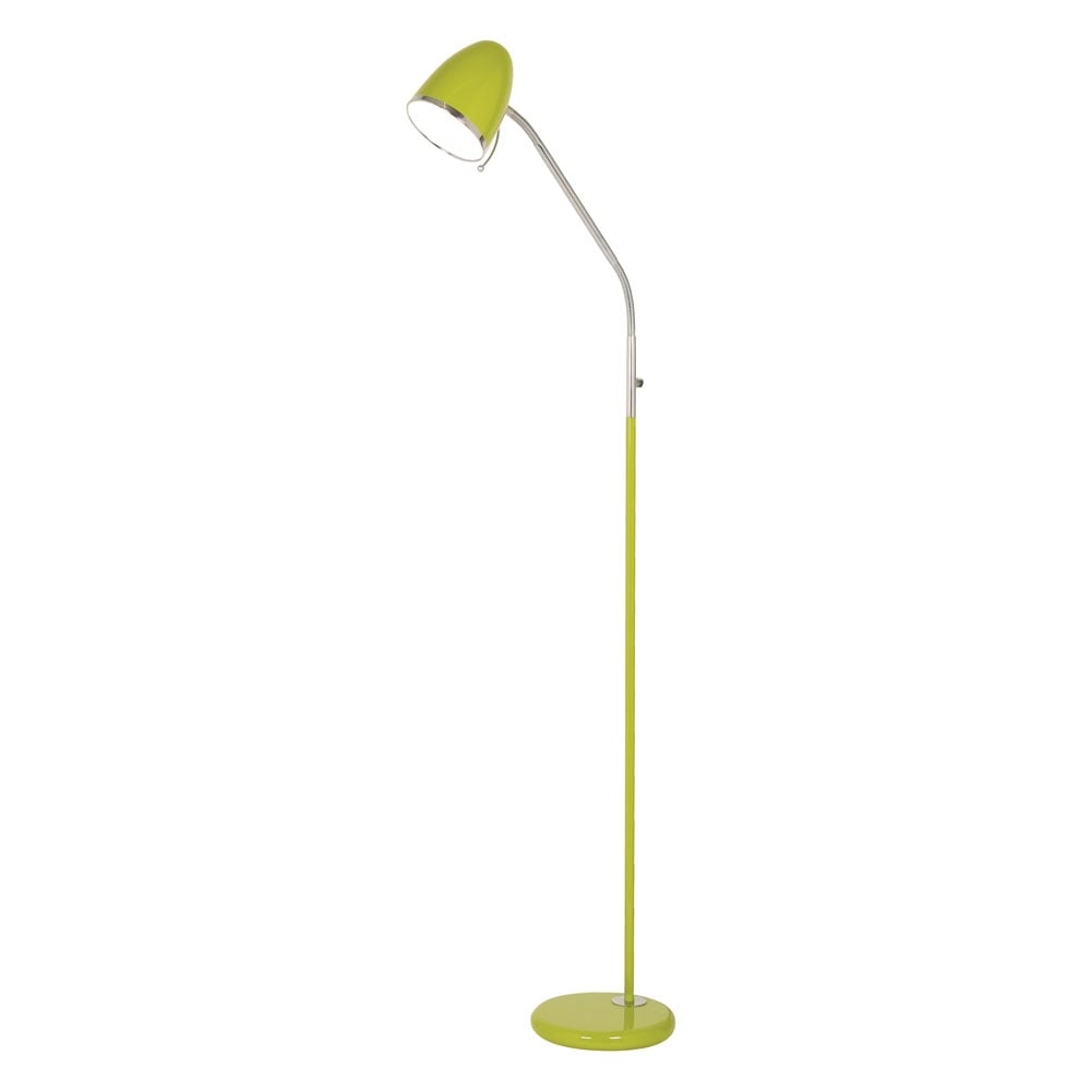 Oaks lighting 2819flgr 1 x 60w es lime green madison madison lime green floor lamp aloadofball Images