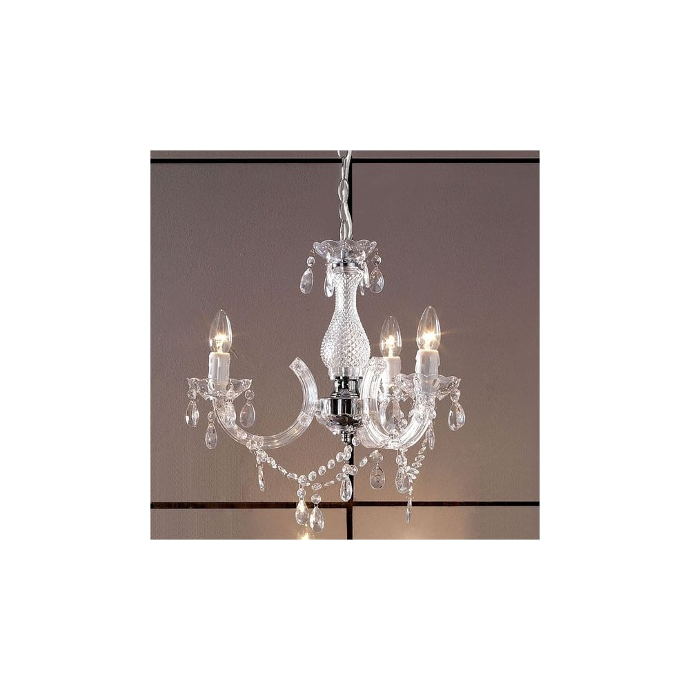 Oaks Lighting 7801 3 Marie Therese Crystal Chandelier