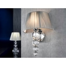 Mercury Clear Wall Lamp