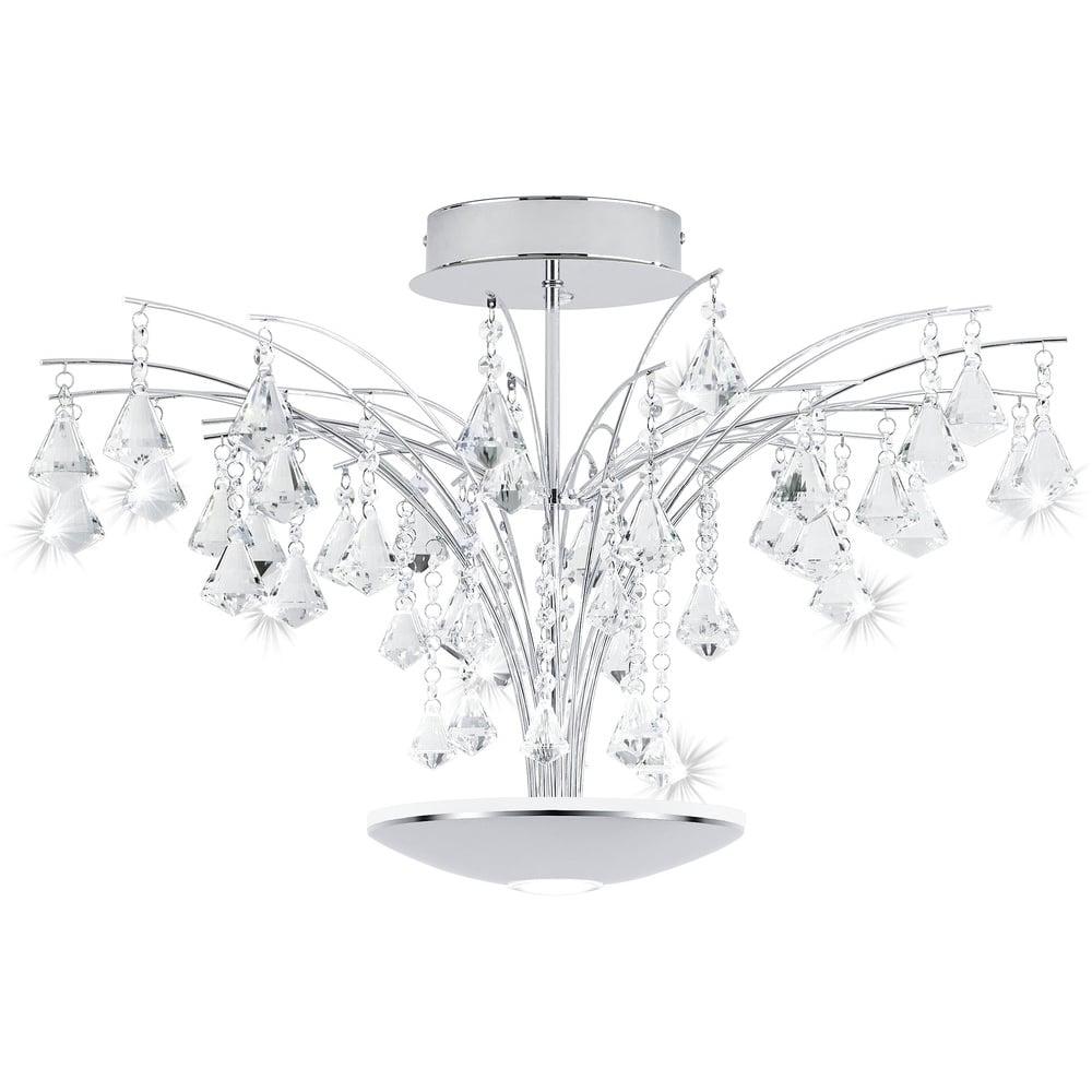 Eglo MIRAMAS Crystal Tree Effect Ceiling Light | ideas4lighting ...