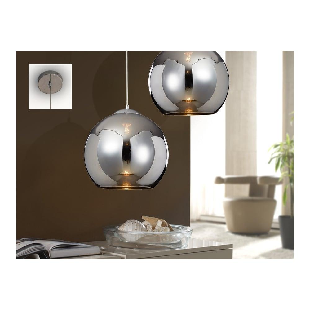 Schuller 589129 Modern Chrome Dome Ceiling Light Pendant ...