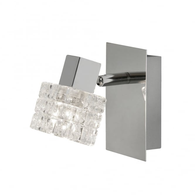 Firstlight Modern Chrome Square Glass Wall Sconce Light