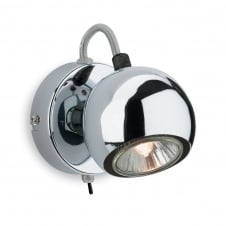 Magnetic Single Spotlight with Push Switch finished in Chrome