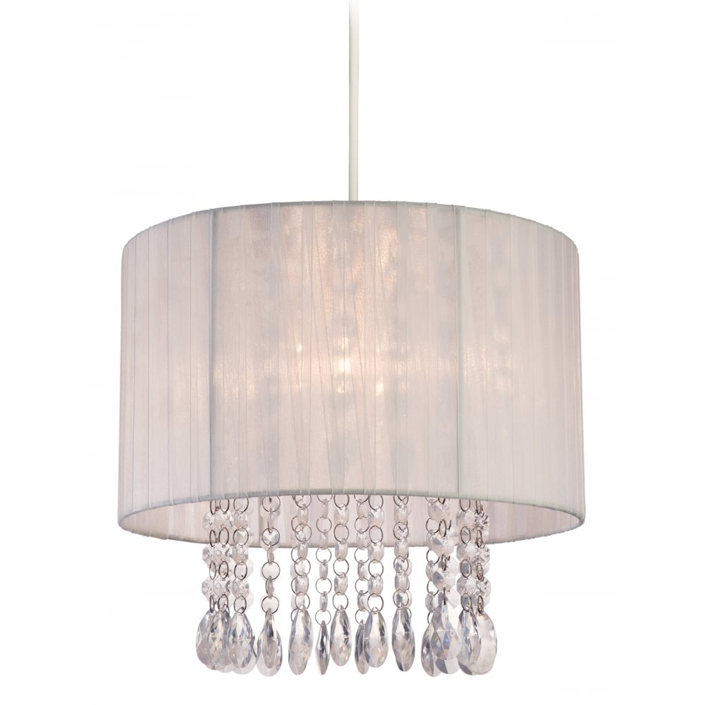 Firstlight 8634wh organza easy fit pendant ideas4lighting sku608i4l organza easy fit pendant with white and clear acrylic shade aloadofball Choice Image
