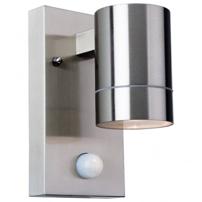 Firstlight colt cylinder wall down light ideas4lighting sku183i4l for Stainless steel bathroom lights