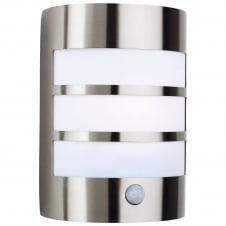 Stainless Steel Wall Light with PIR · Firstlight Modern Stainless Steel Bathroom Sensor ...
