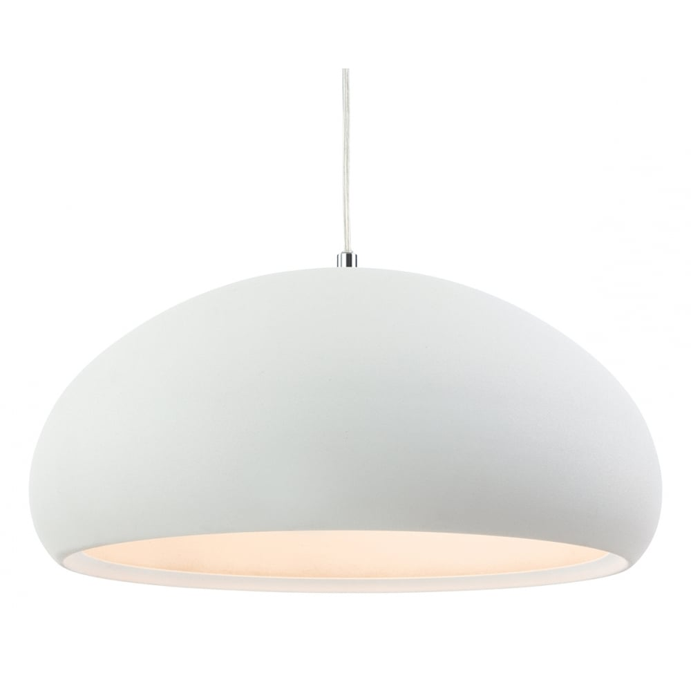 Modern white rough sand dome shade ceiling pendant light fitting