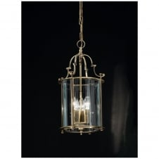 Montagu Bronze 3 Light Brass Ceiling Lantern