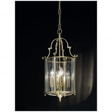 Montagu Polished Brass 4 Light Ceiling Lantern