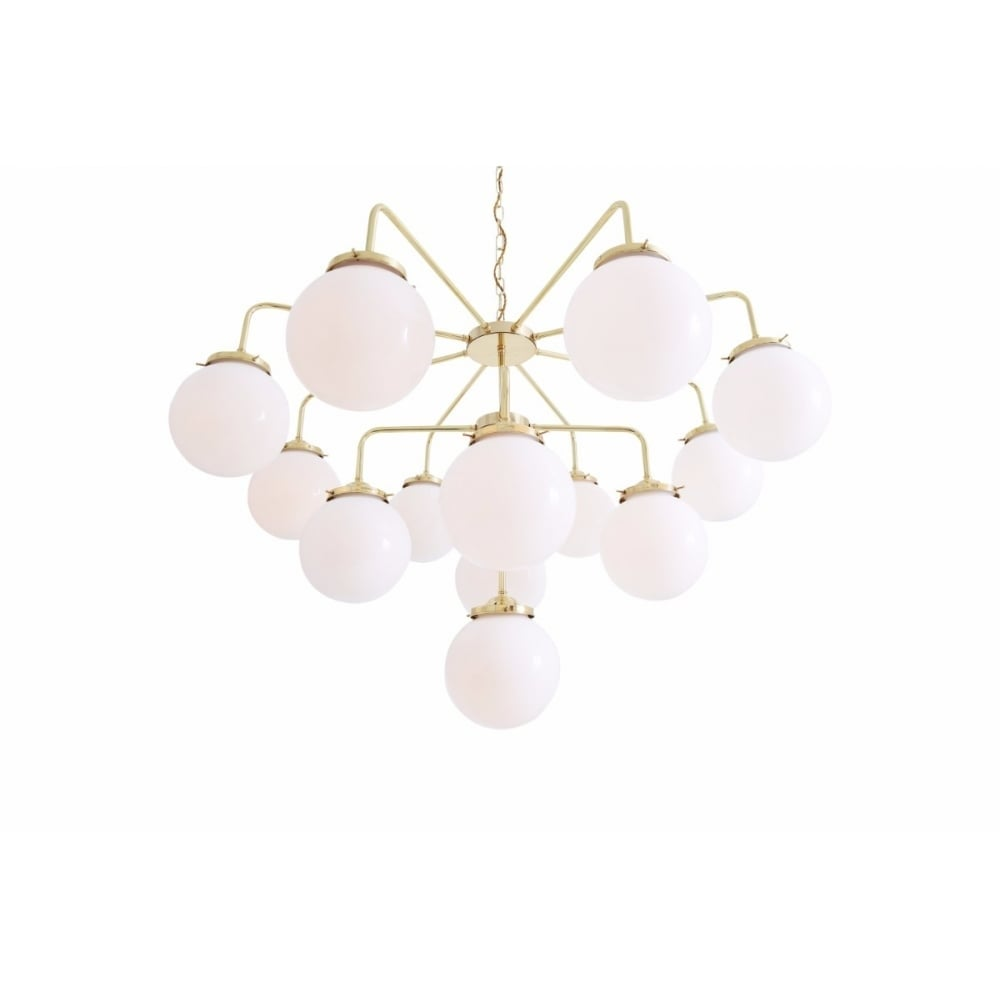 Rome Luxury Rich Chandelier Oval Glass Shades Ceiling Light