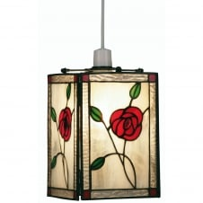 Non-Electric Rose Tiffany Shade Pendant