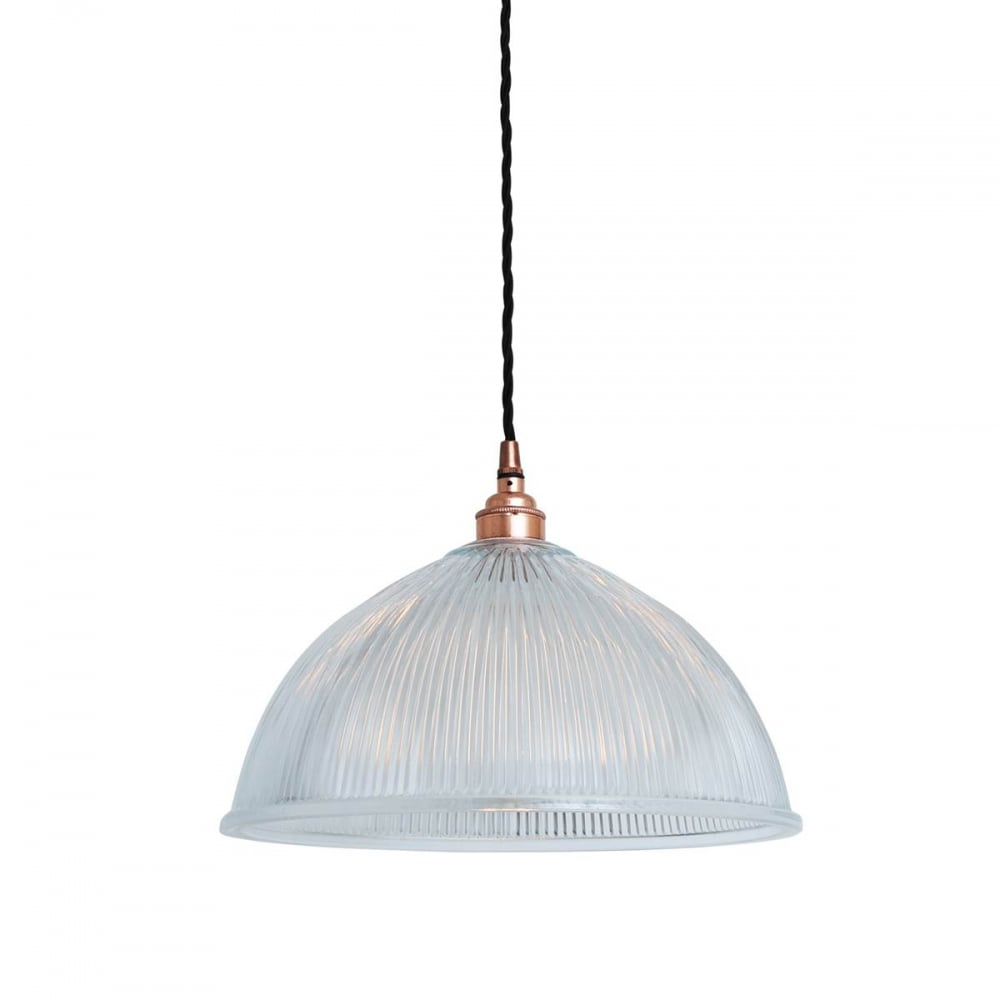 Nova Pendant With Dome Bowl Rippled Gl Shade Gl025