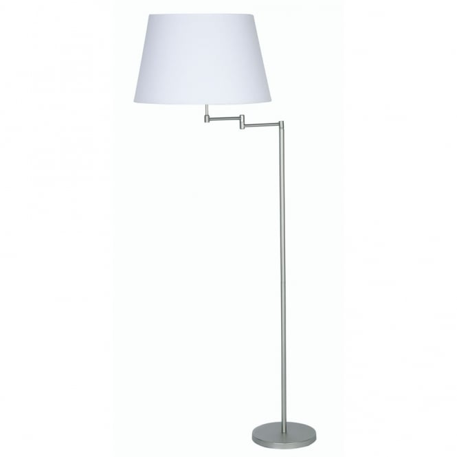 Oaks Armada Satin Chrome Double Swing Arm Floor Lamp