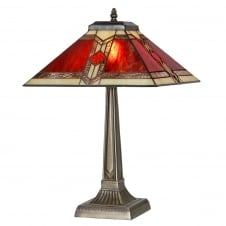 Aztec Tiffany Glass Table Lamp