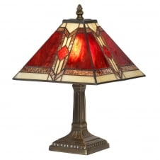 Oaks Aztec Vintage Tiffany Table Lamp