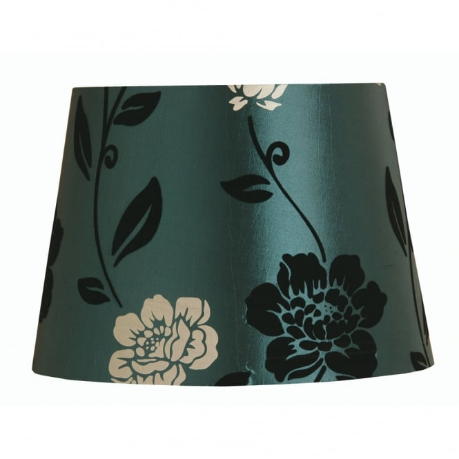 Oaks Blue Flock Drum Shade