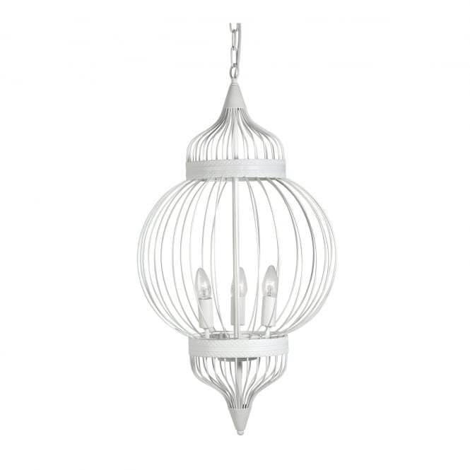 Oaks Burr White Ceiling Light