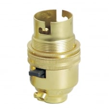 10mm Brass Lamp Holder Switched