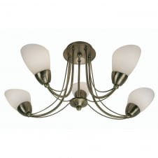 Altair Antique Brass 5 Light Ceiling Fitting
