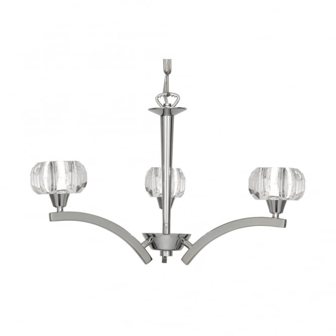 Oaks Cardan Chrome 3 Light Ceiling Fitting