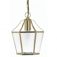 Dulverton Polished Brass Ceiling Pendant