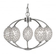 Floss 5 Light Chrome Crystal Oval Fittting