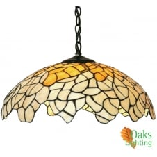 Oaks Lighting Hand Made Titania Tiffany Ceiling Light