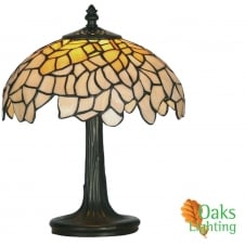 Oaks Lighting Hand Made Titania Tiffany Table Lamp