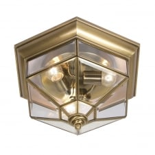 Kimura Flush Brass Ceiling Light