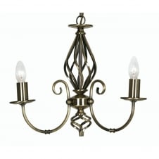 Tuscany Antique Brass 3 Light Ceiling Pendant