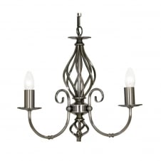 Tuscany Antique Silver 3 Light Ceiling Pendant