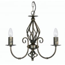 Tuscany Black Gold 3 Light Ceiling Pendant