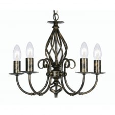 Tuscany Black Gold 5 Light Ceiling Pendant