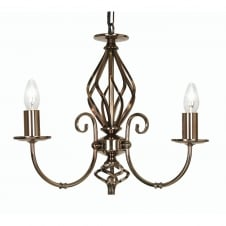 Tuscany Gun Metal 3 Light Ceiling Pendant