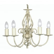 Tuscany Ivory 5 Light Ceiling Pendant