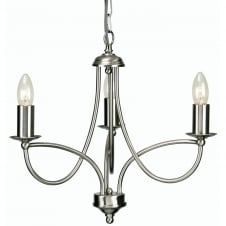Loop Antique Chrome 3 Light Ceiling Fitting