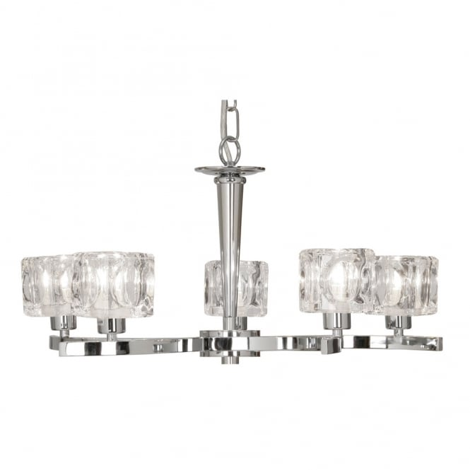 Oaks Tao Chrome 5 Light Ceiling Fitting