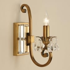 Oksana Brass Single Wall Light