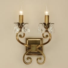 Oksana Brass Twin Wall Light